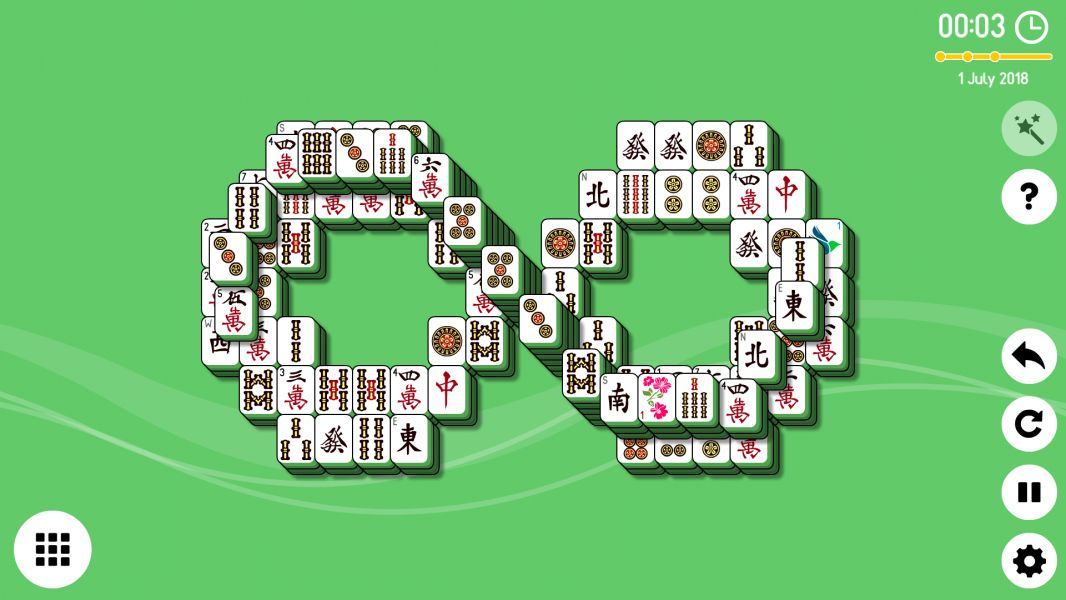 Level 2018-07-01. Online Mahjong Solitaire