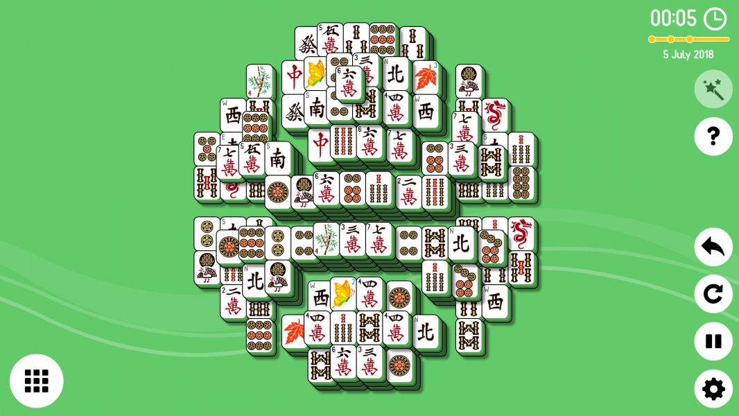 Level 2018-07-05. Online Mahjong Solitaire
