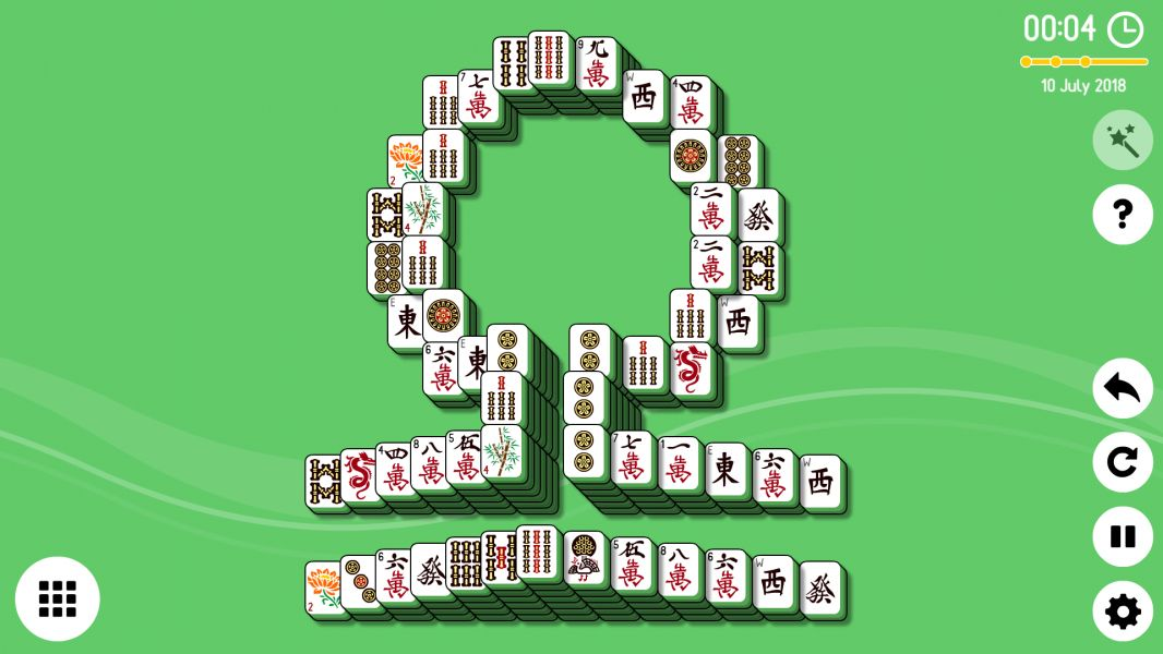 Level 2018-07-10. Online Mahjong Solitaire