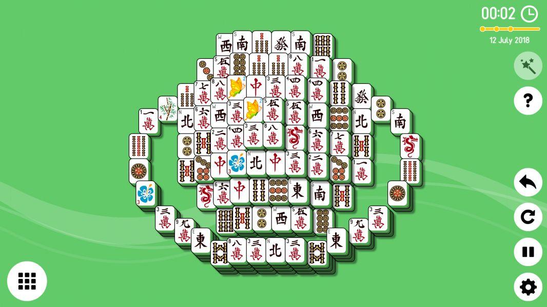 Level 2018-07-12. Online Mahjong Solitaire