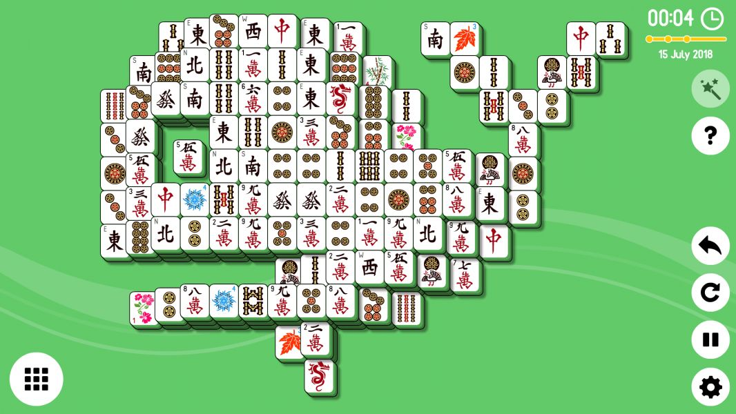 Level 2018-07-15. Online Mahjong Solitaire