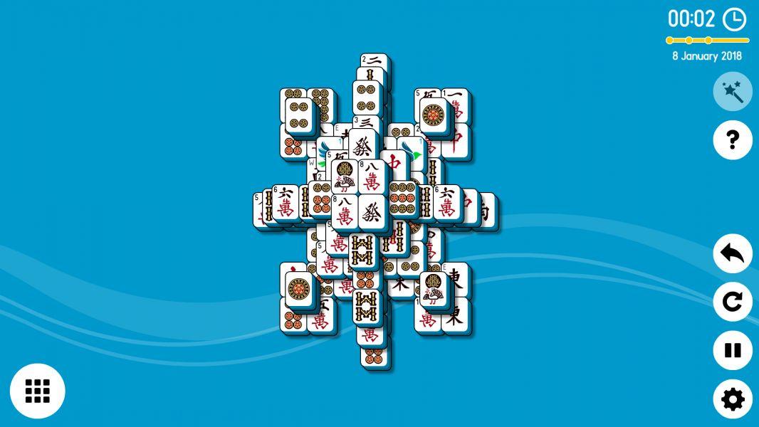 Level 2018-01-08. Online Mahjong Solitaire