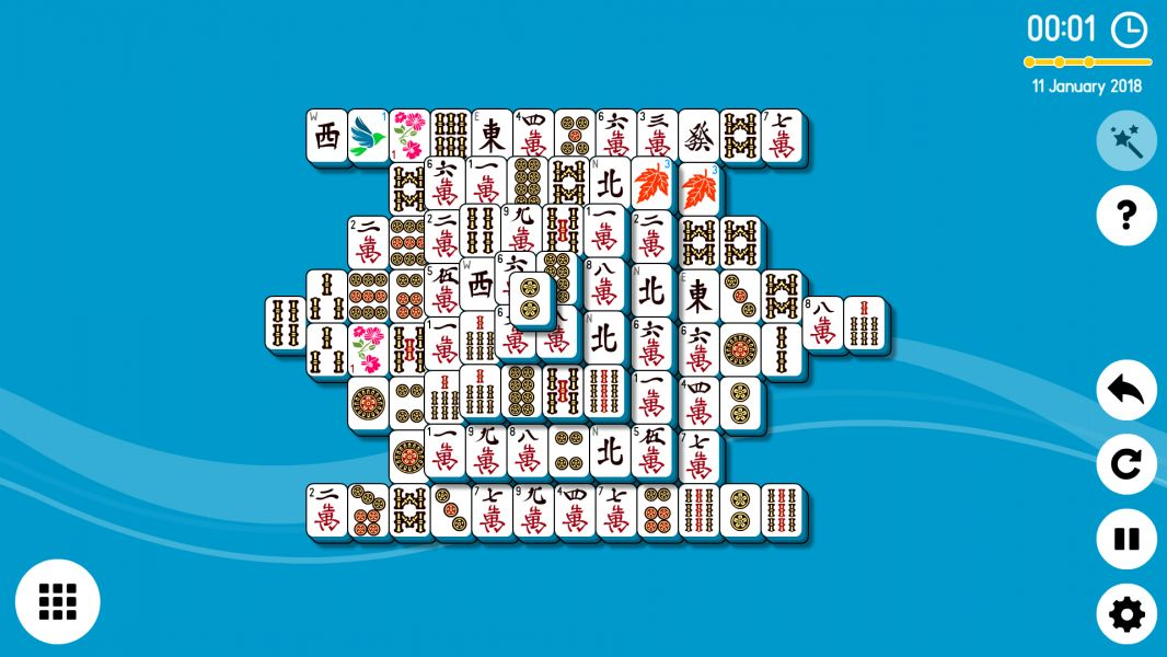 Level 2018-01-11. Online Mahjong Solitaire