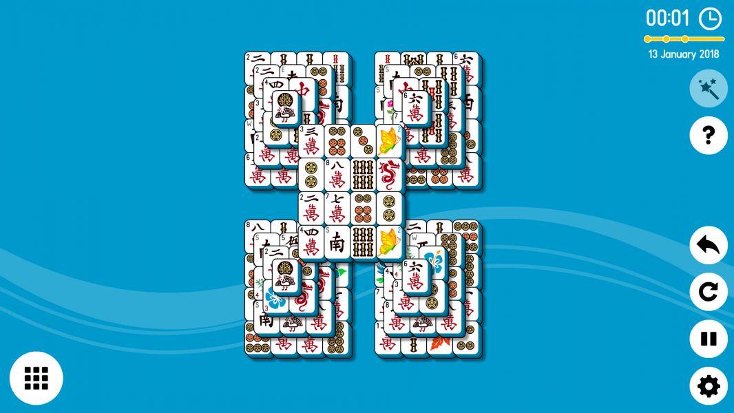 Level 2018-01-13. Online Mahjong Solitaire