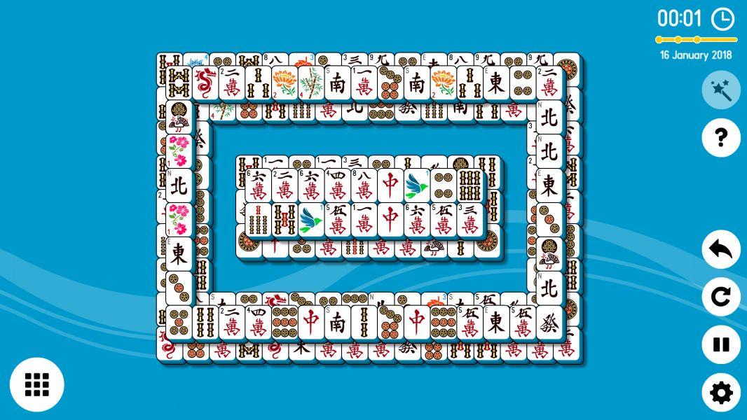 Level 2018-01-16. Online Mahjong Solitaire