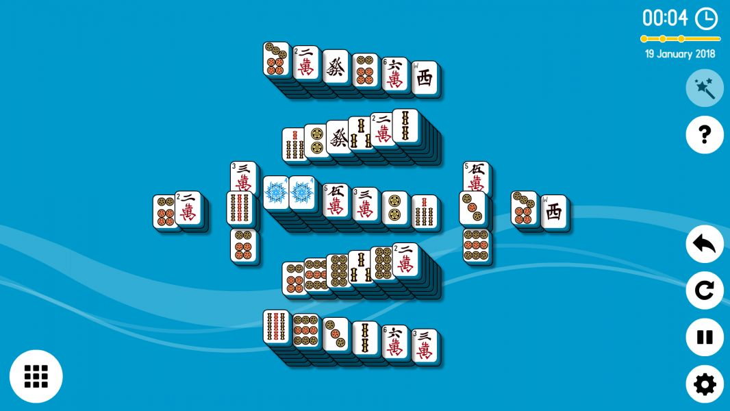 Level 2018-01-19. Online Mahjong Solitaire