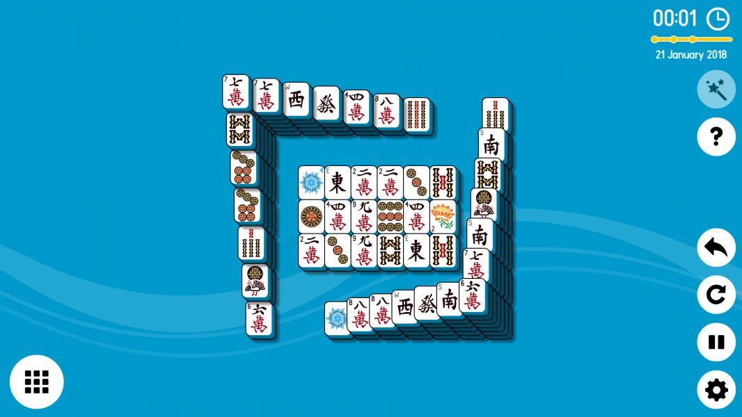 Level 2018-01-21. Online Mahjong Solitaire