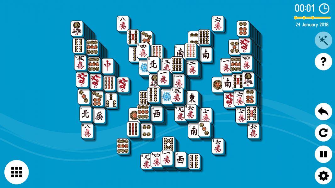 Level 2018-01-24. Online Mahjong Solitaire