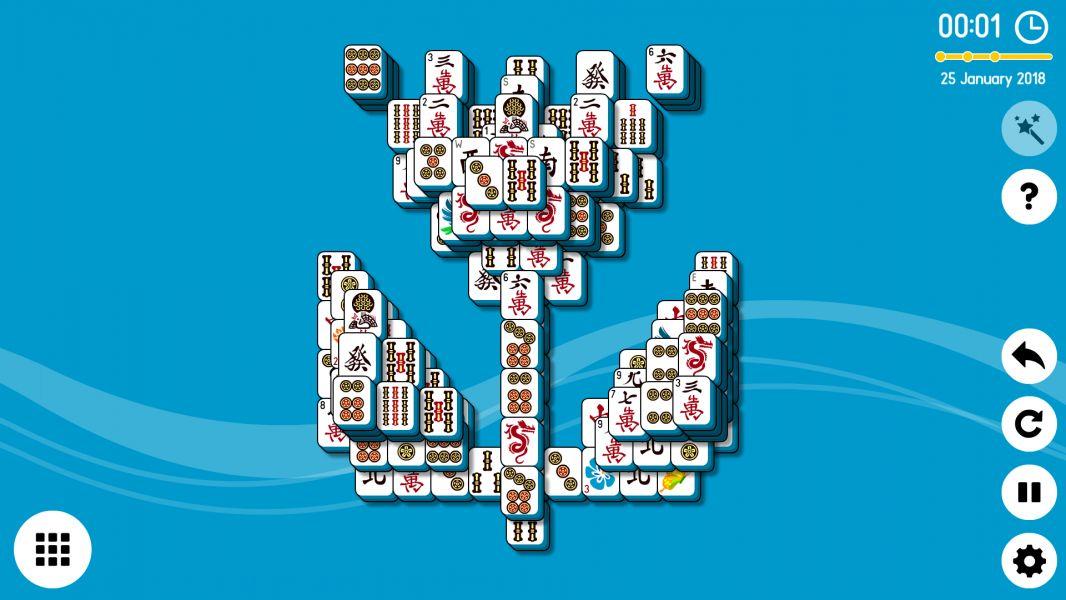 Level 2018-01-25. Online Mahjong Solitaire