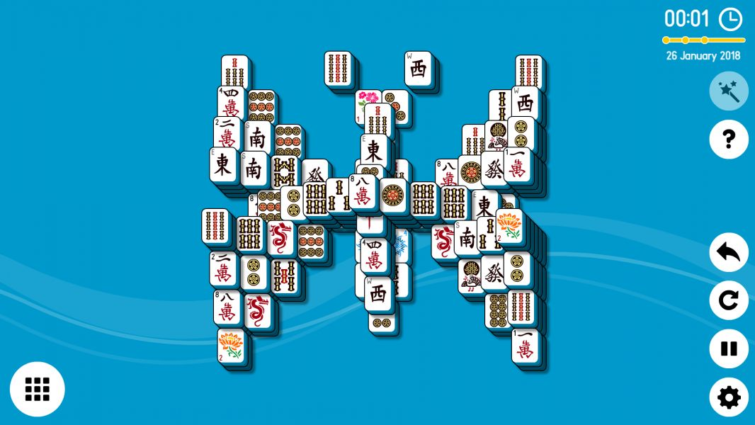 Level 2018-01-26. Online Mahjong Solitaire