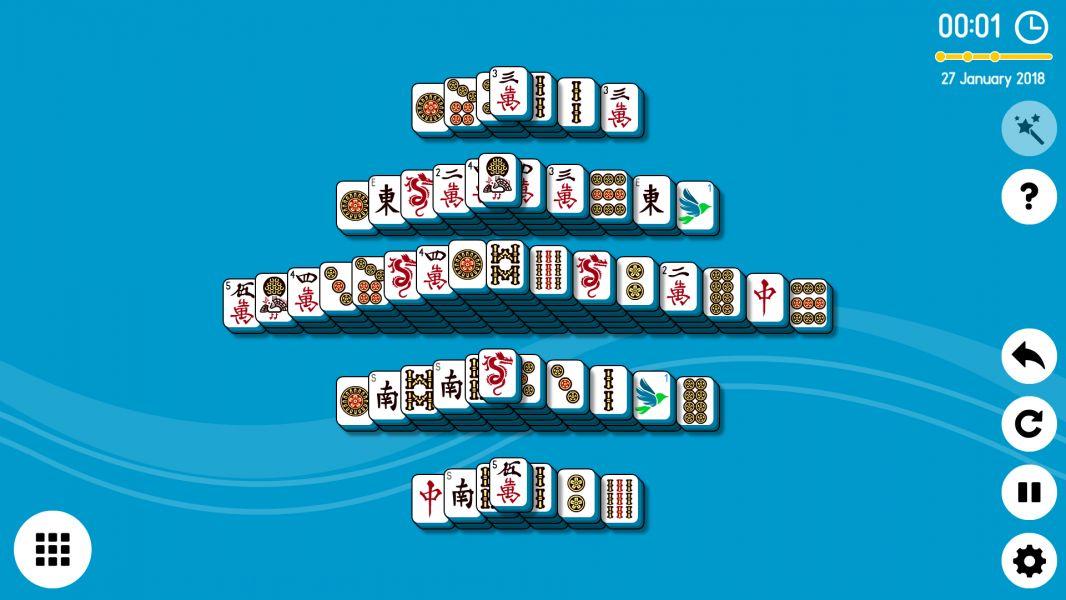 Level 2018-01-27. Online Mahjong Solitaire