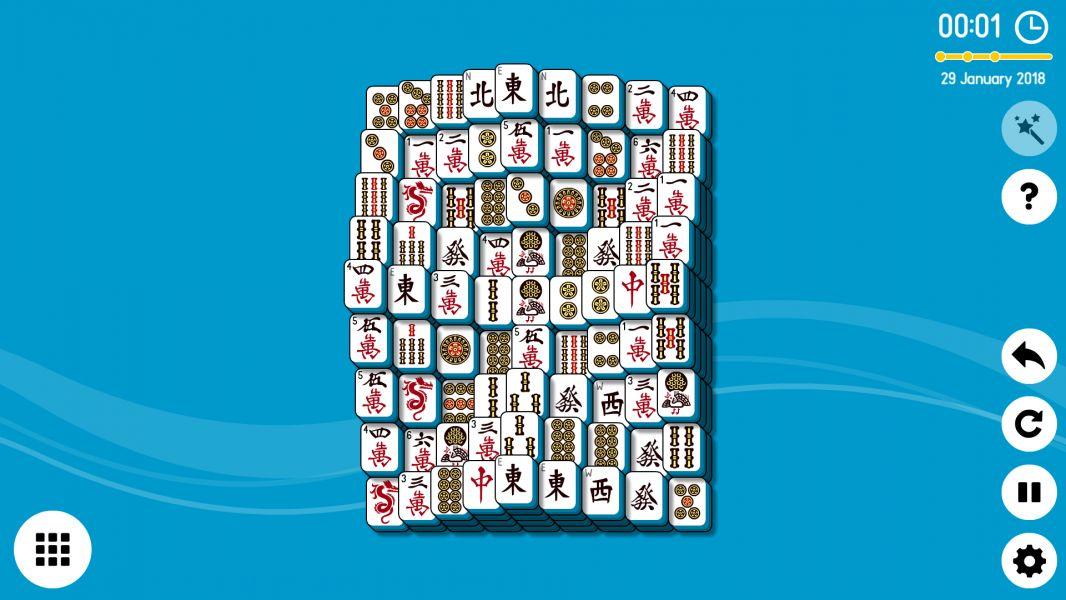 Level 2018-01-29. Online Mahjong Solitaire