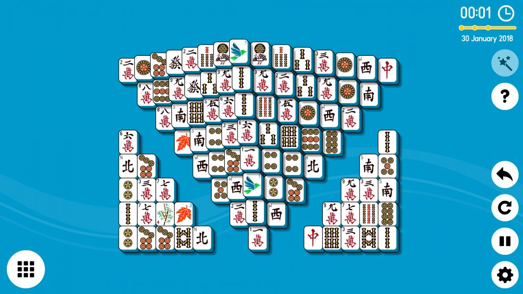 Level 2018-01-30. Online Mahjong Solitaire