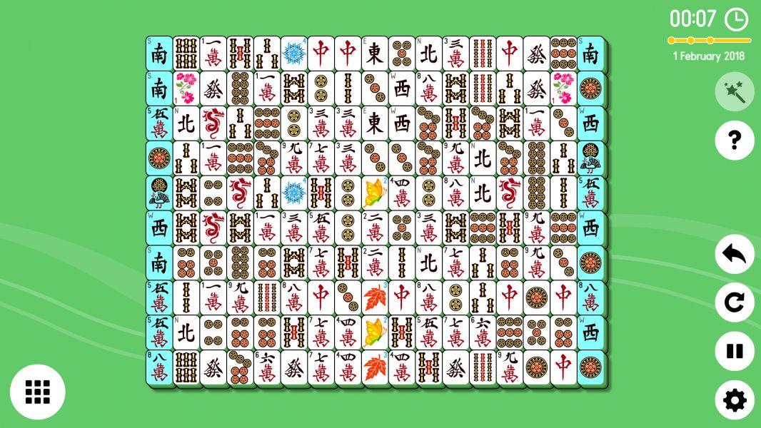 Level 2018-02-01. Online Mahjong Solitaire