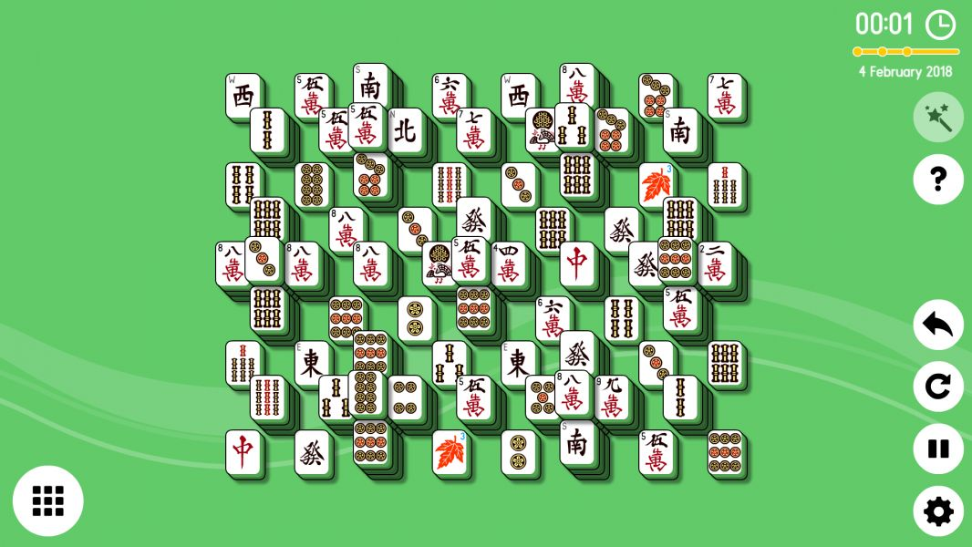 Level 2018-02-04. Online Mahjong Solitaire
