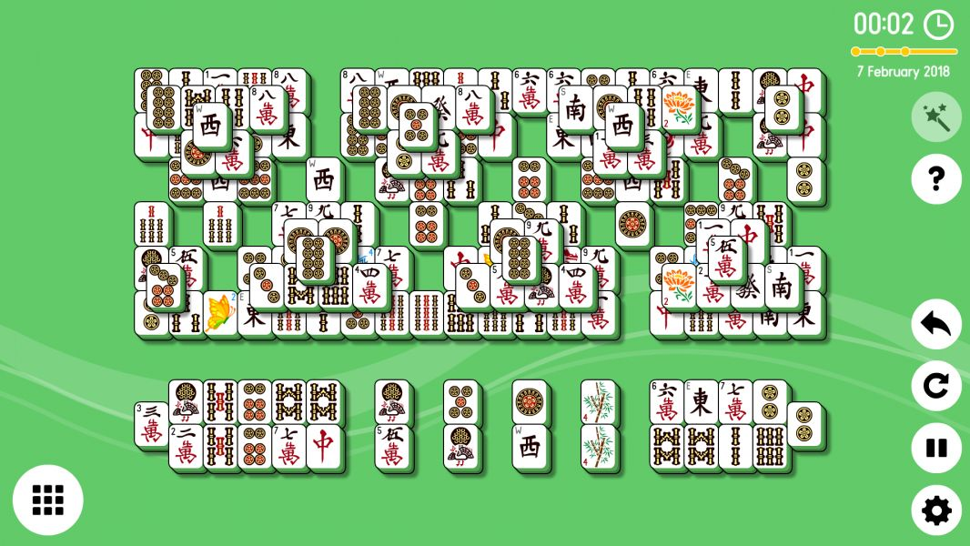 Level 2018-02-07. Online Mahjong Solitaire