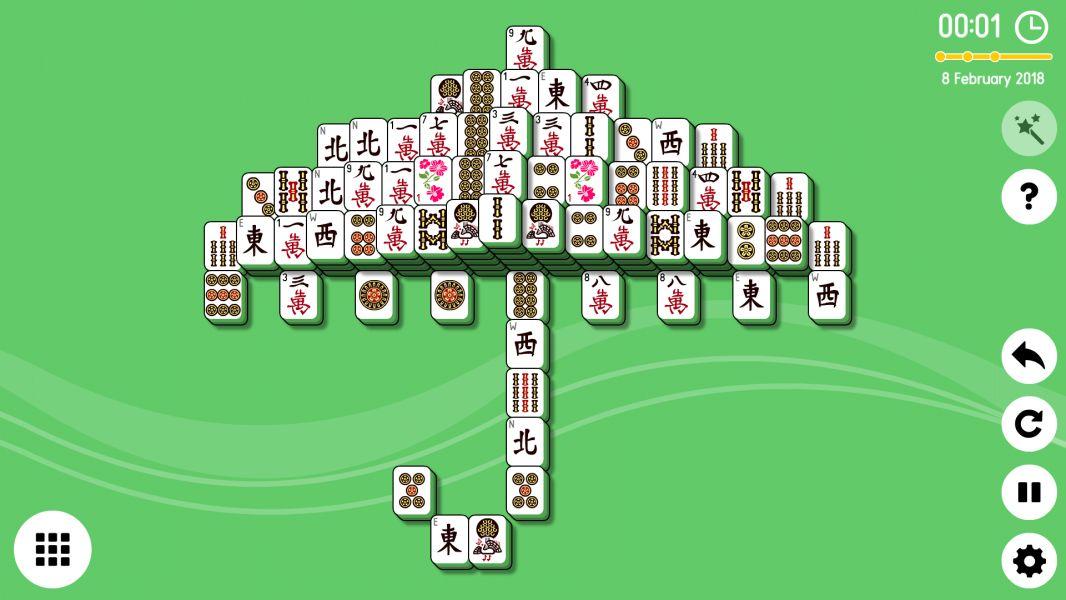 Level 2018-02-08. Online Mahjong Solitaire