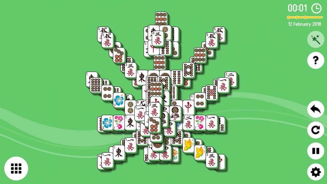 Level 2018-02-12. Online Mahjong Solitaire