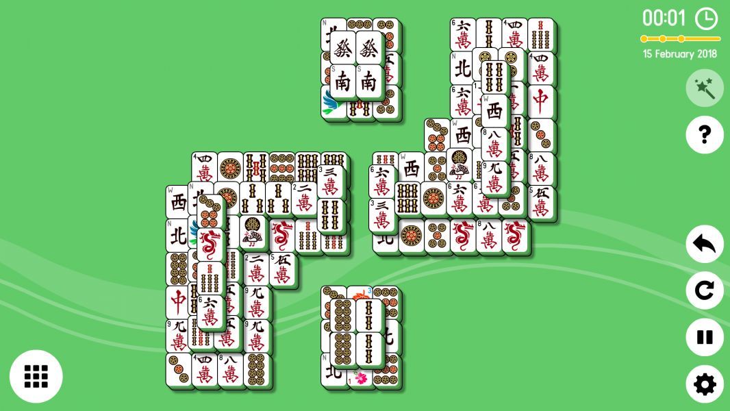 Level 2018-02-15. Online Mahjong Solitaire