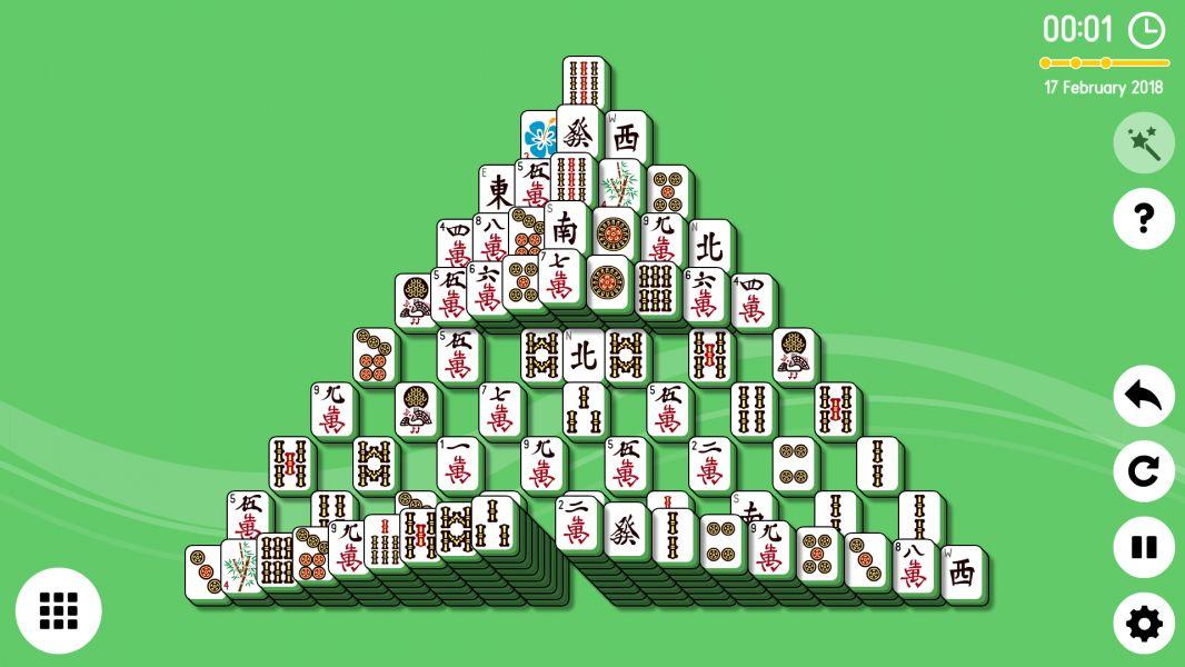Level 2018-02-17. Online Mahjong Solitaire