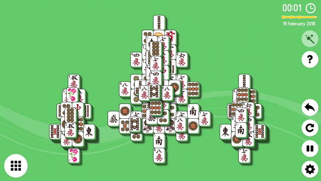Level 2018-02-19. Online Mahjong Solitaire