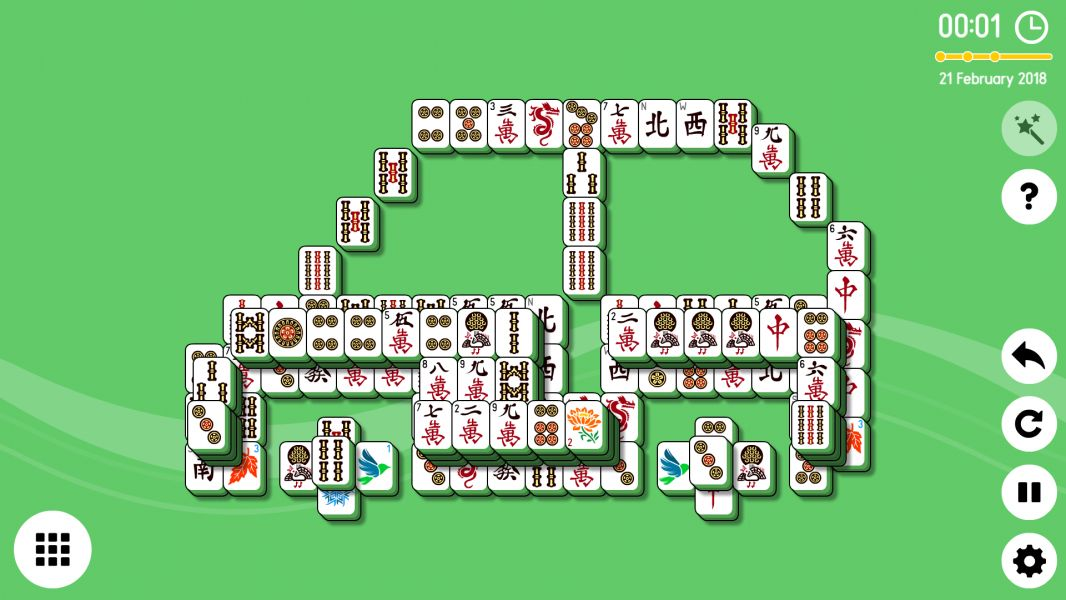 Level 2018-02-21. Online Mahjong Solitaire