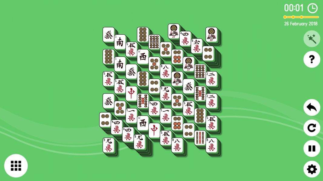 Level 2018-02-26. Online Mahjong Solitaire