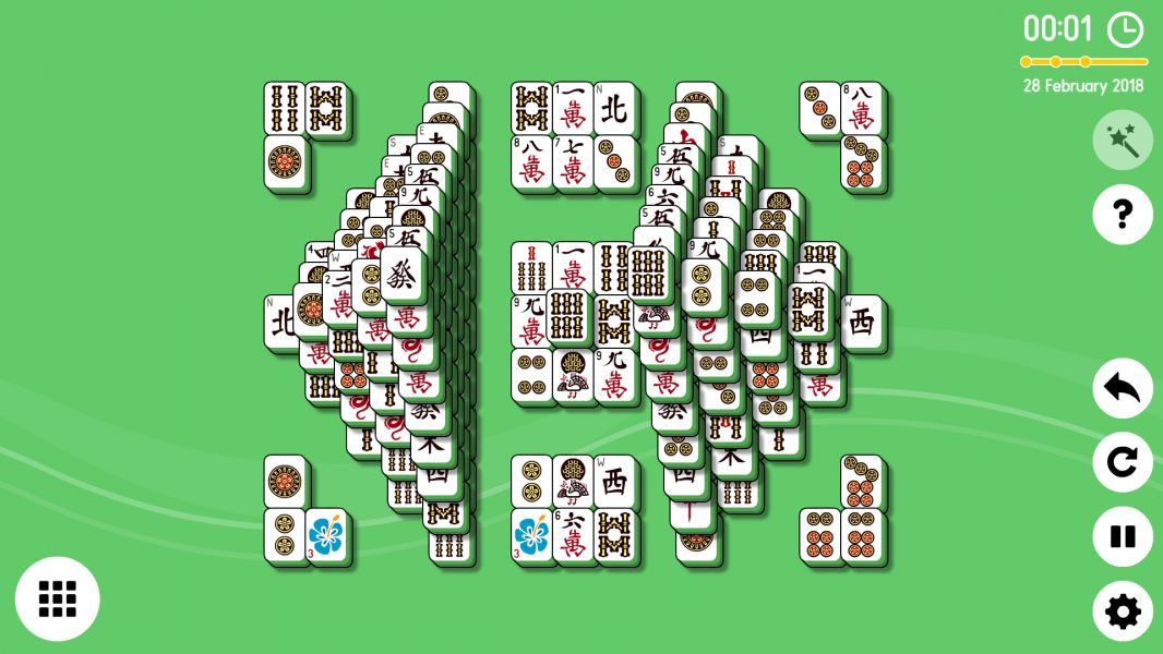Level 2018-02-28. Online Mahjong Solitaire