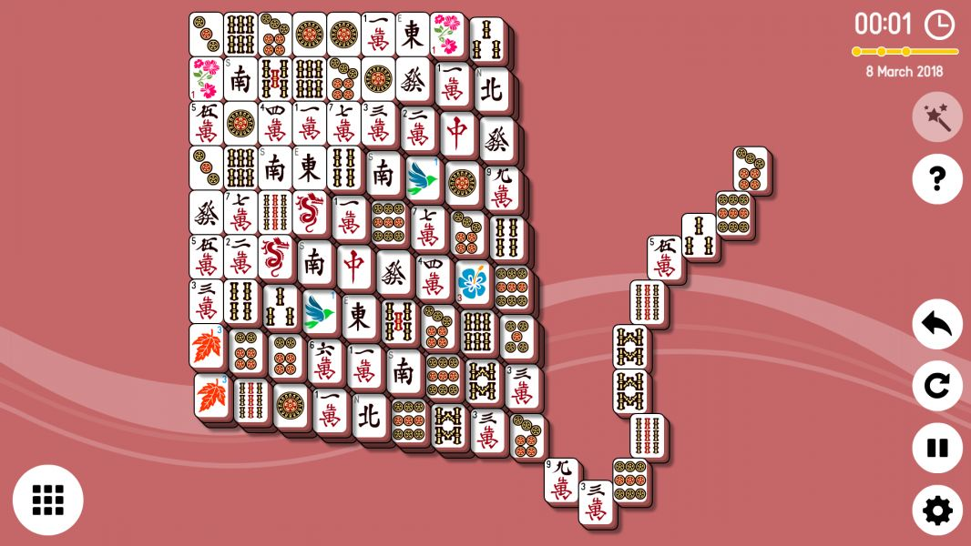 Level 2018-03-08. Online Mahjong Solitaire