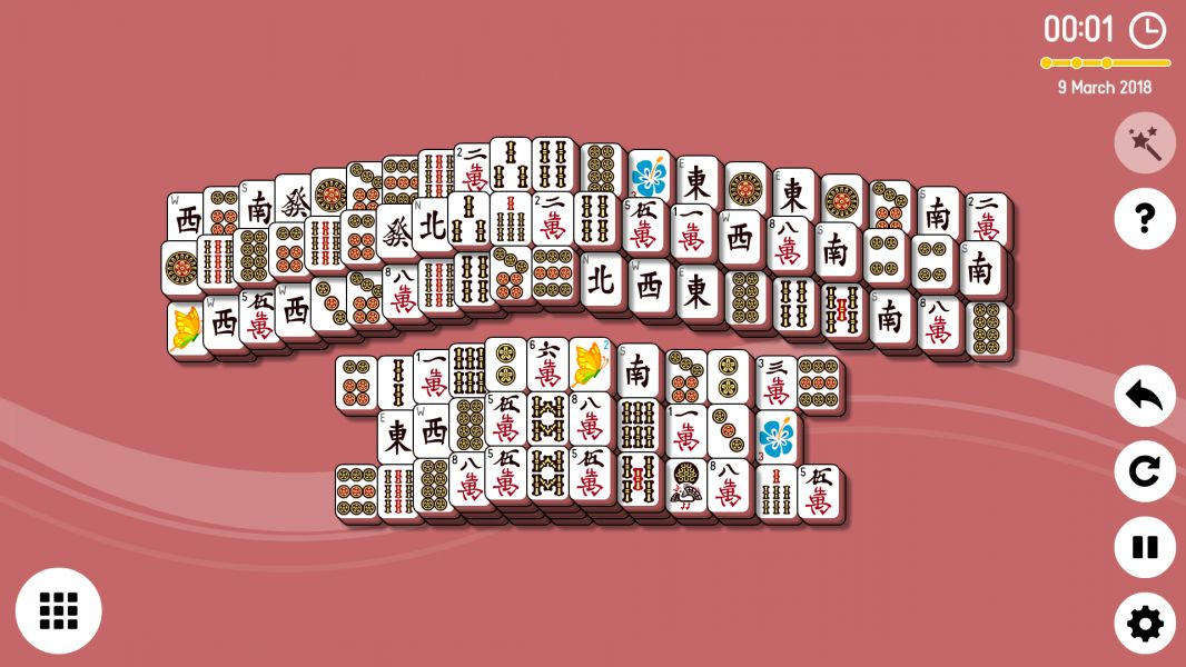 Level 2018-03-09. Online Mahjong Solitaire