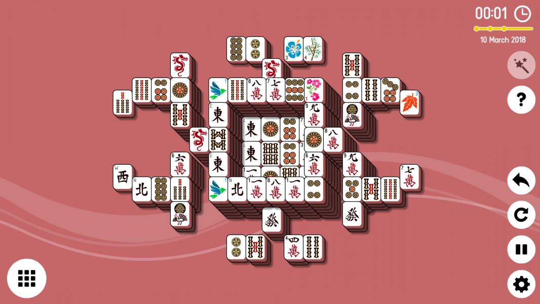 Level 2018-03-10. Online Mahjong Solitaire