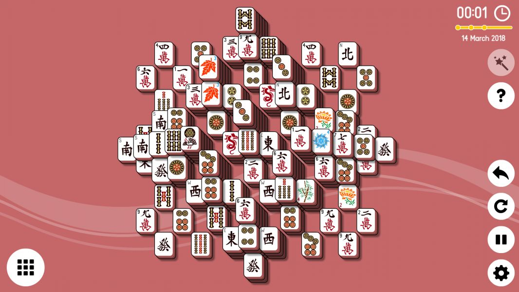 Level 2018-03-14. Online Mahjong Solitaire