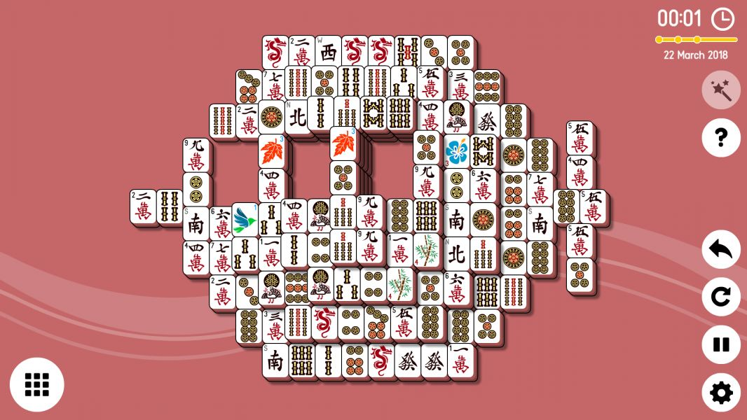 Level 2018-03-22. Online Mahjong Solitaire