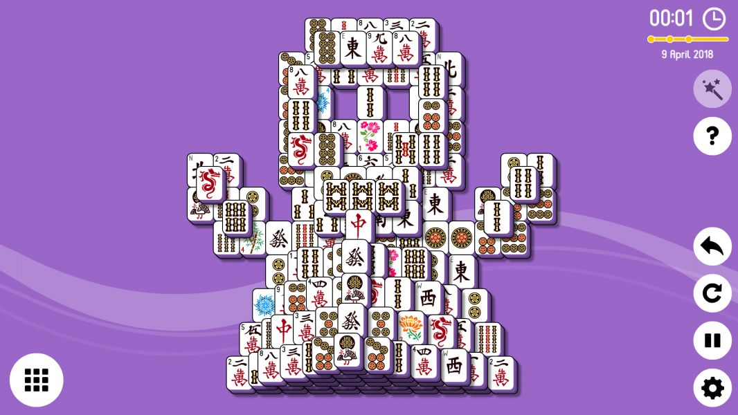 Level 2018-04-09. Online Mahjong Solitaire