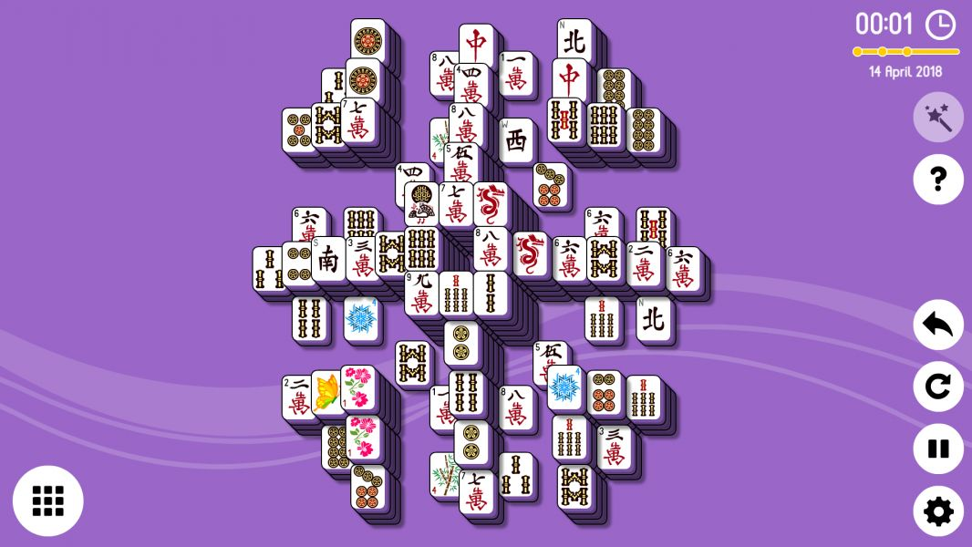 Level 2018-04-14. Online Mahjong Solitaire