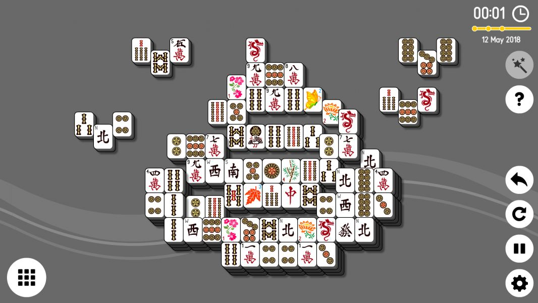 Level 2018-05-12. Online Mahjong Solitaire