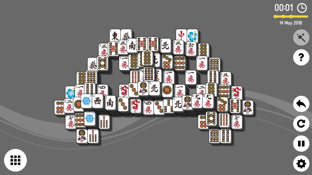 Level 2018-05-14. Online Mahjong Solitaire