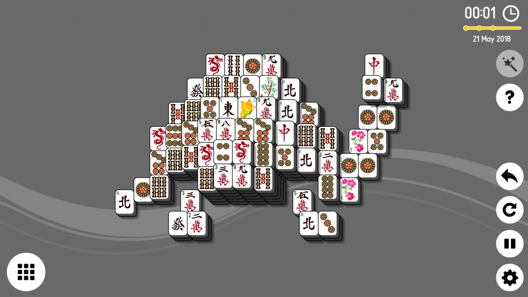 Level 2018-05-21. Online Mahjong Solitaire