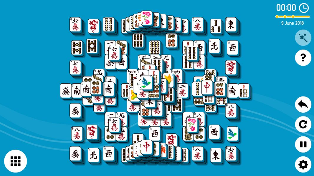 Level 2018-06-09. Online Mahjong Solitaire