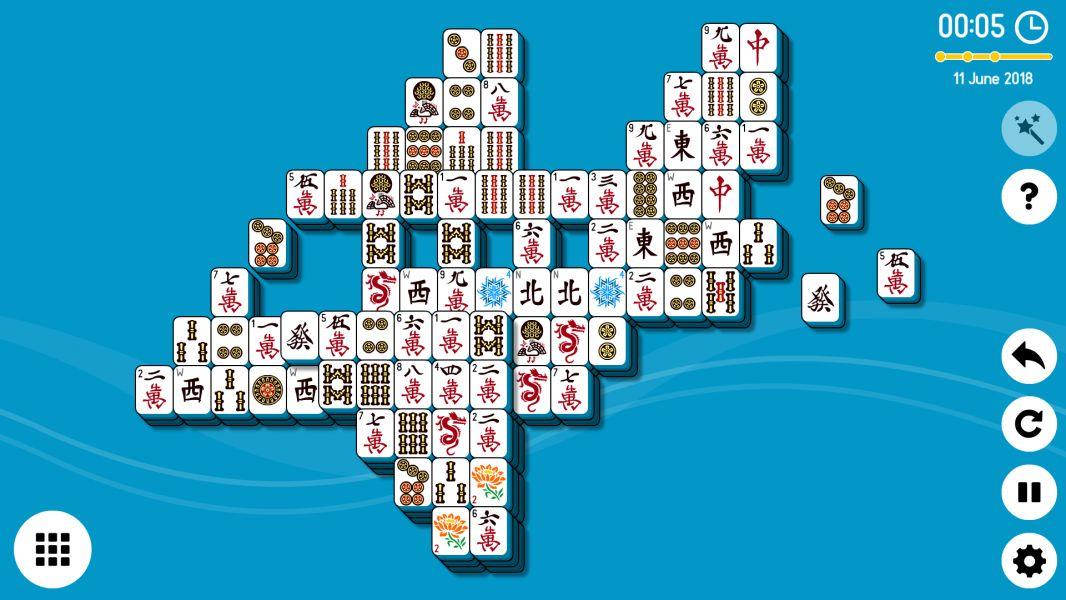 Level 2018-06-11. Online Mahjong Solitaire
