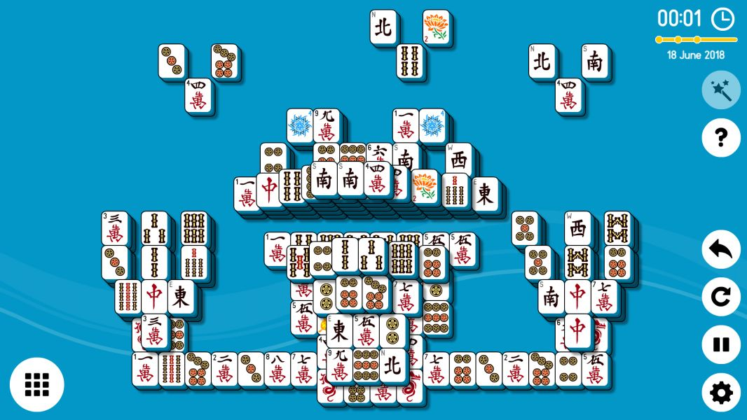 Level 2018-06-18. Online Mahjong Solitaire