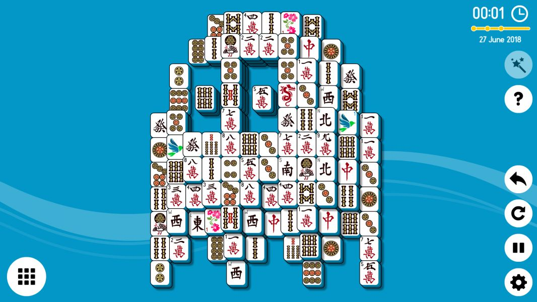 Level 2018-06-27. Online Mahjong Solitaire