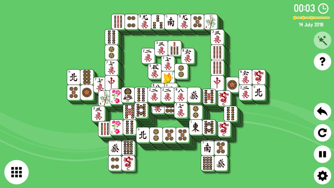 Level 2018-07-14. Online Mahjong Solitaire