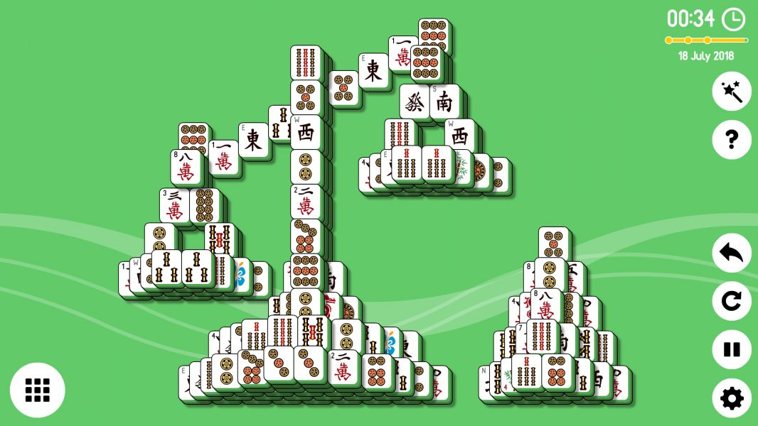 Level 2018-07-18. Online Mahjong Solitaire