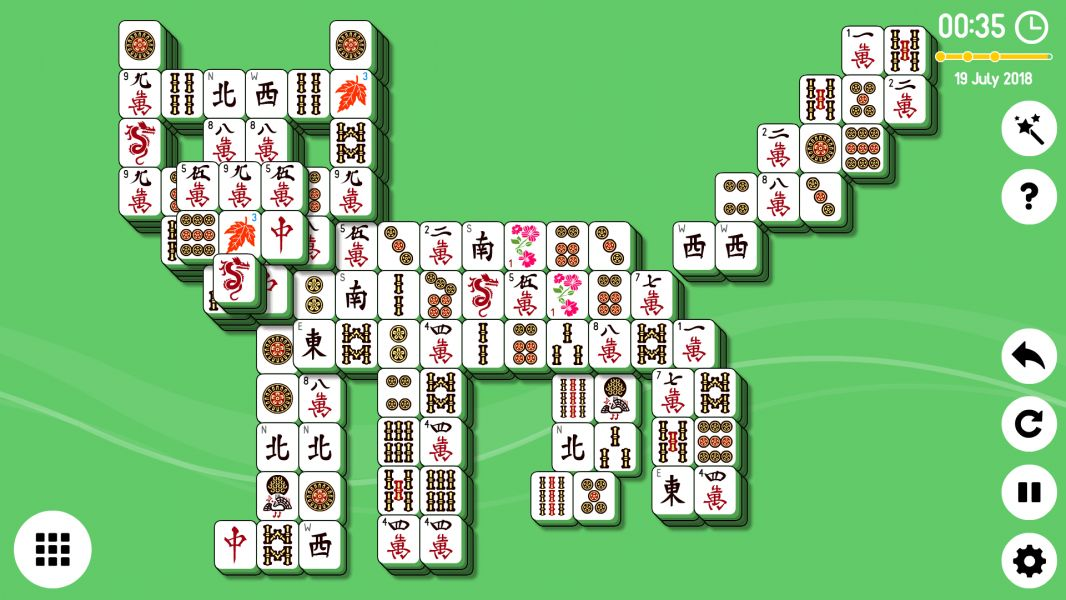 Level 2018-07-19. Online Mahjong Solitaire