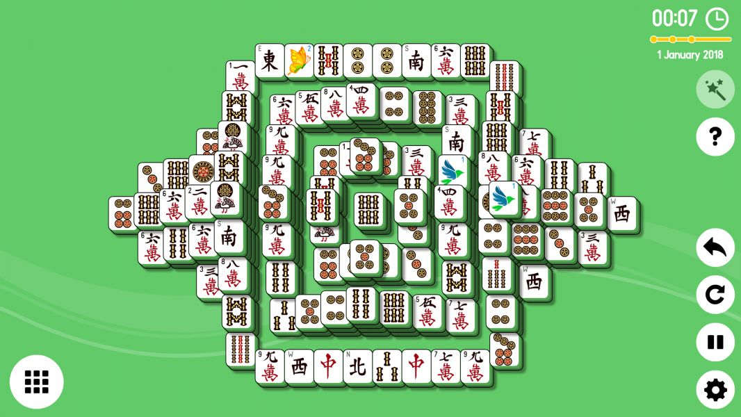 Level 2018-07-20. Online Mahjong Solitaire