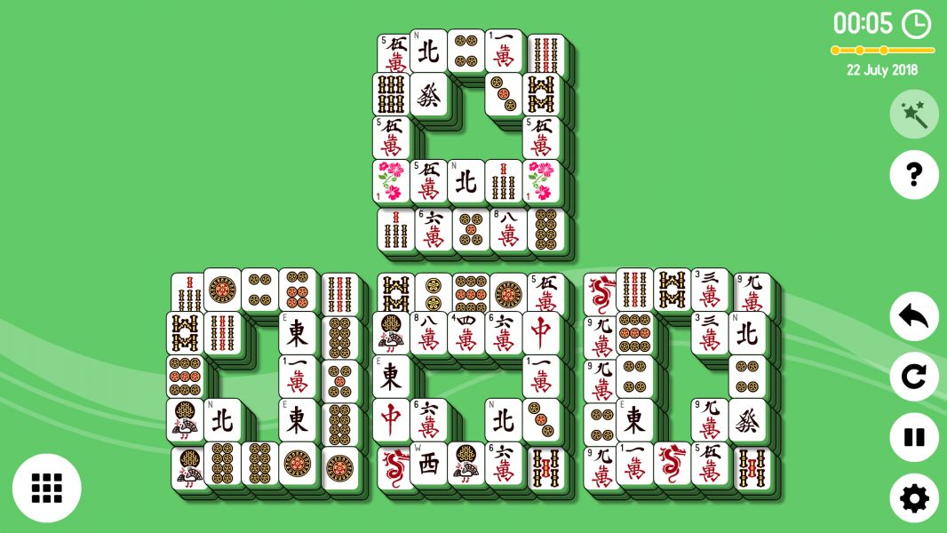 Level 2018-07-22. Online Mahjong Solitaire