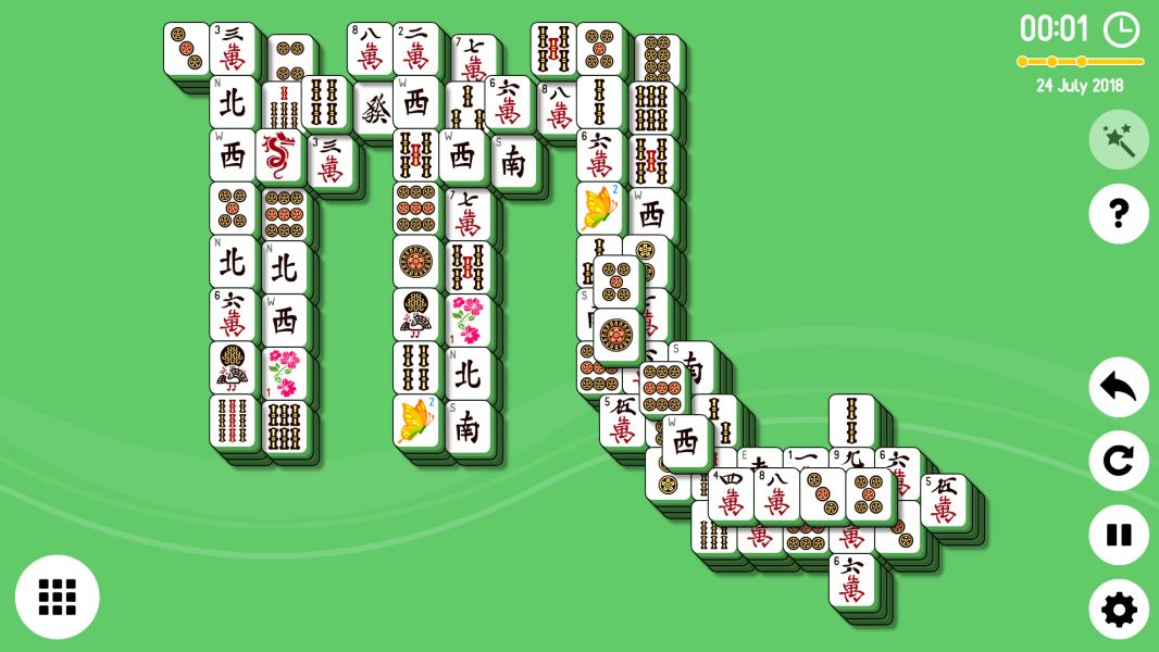 Level 2018-07-24. Online Mahjong Solitaire