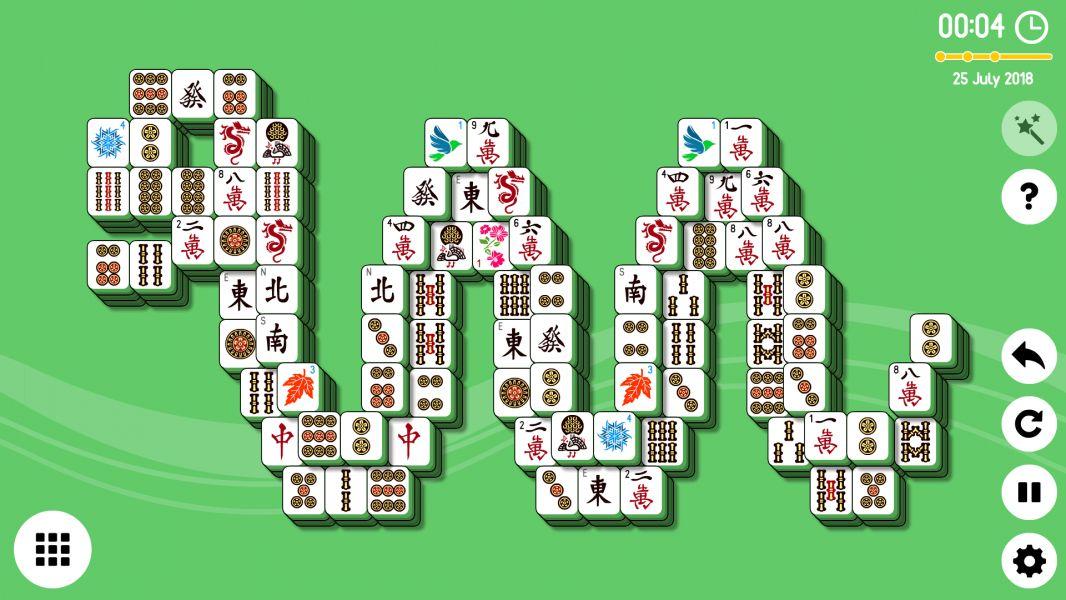 Level 2018-07-25. Online Mahjong Solitaire