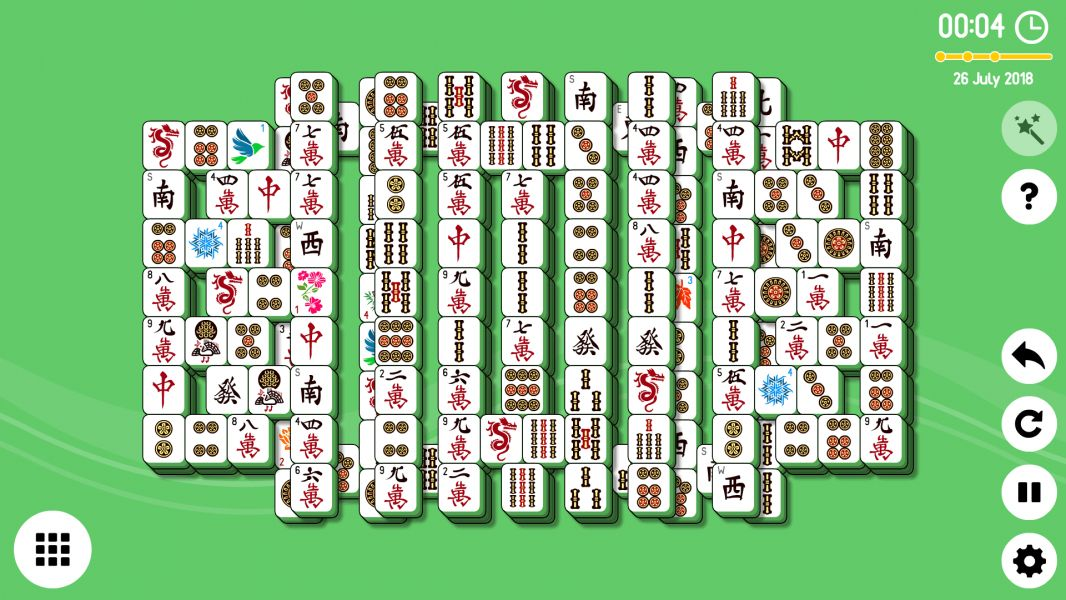 Level 2018-07-26. Online Mahjong Solitaire